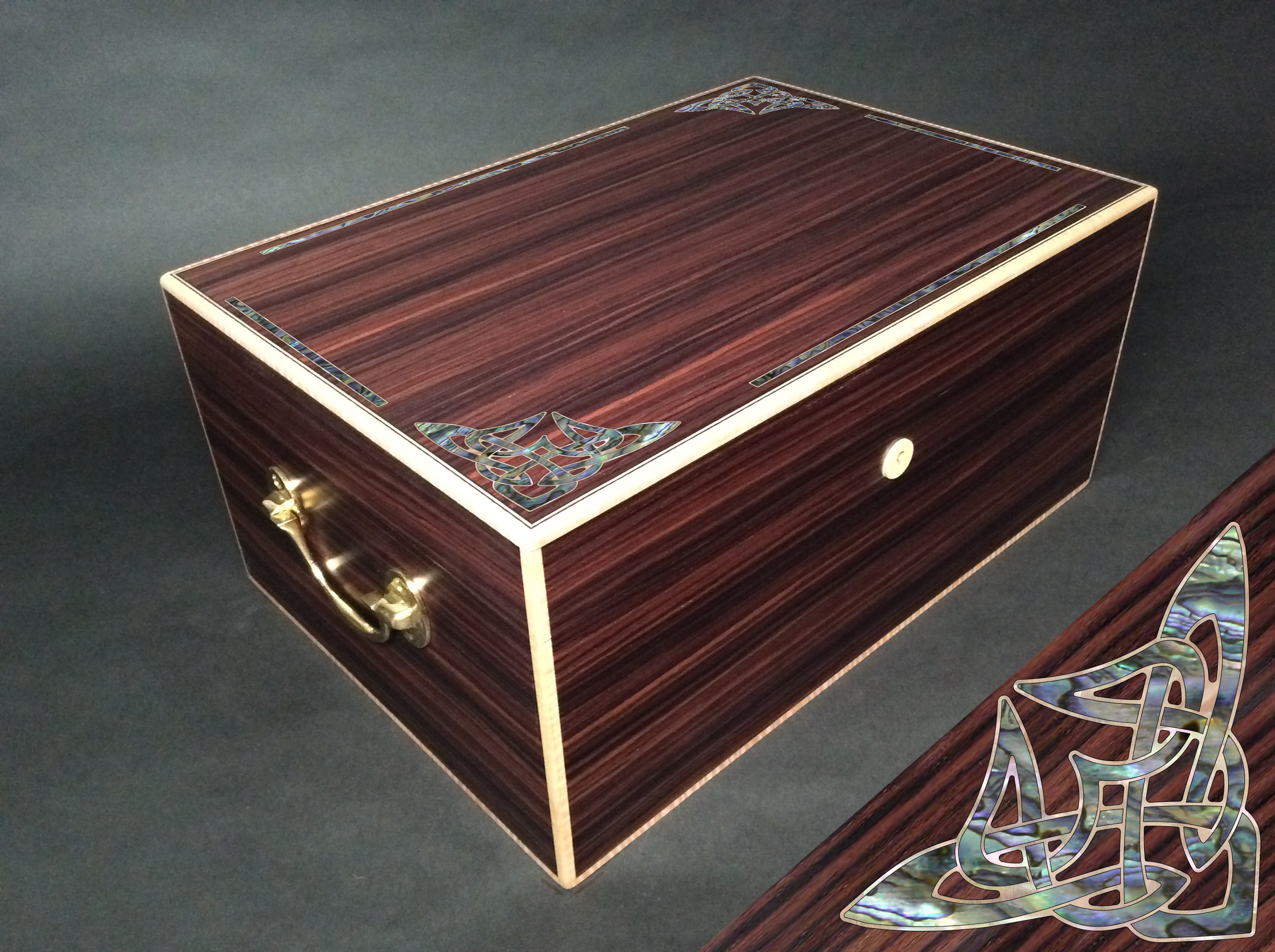 Pearl Inlay Personalized Humidor