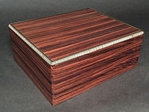 Small Wooden Humidor made of Rosewood