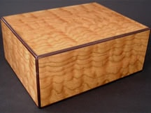 Wooden Cigar Box made from Cherry Wood