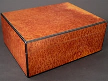 50 Cigar Humidor made from Vavona Burl