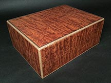 American made humidor made from Pommele Bubinga