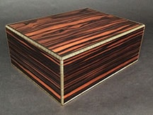 premium humidor made from Macassar Ebony