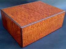 Premium Cigar Box made from Pommele Sapele