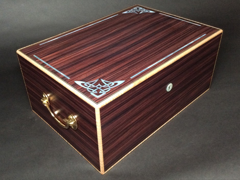 Mother of Pearl Inlaid Humidor